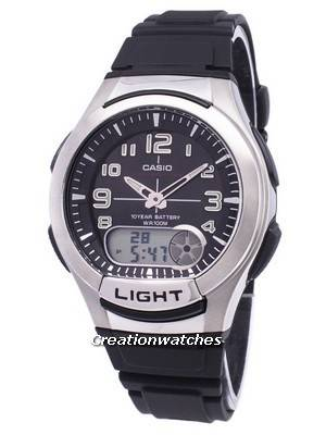 Casio Analog Digital Illuminator Telememo AQ-180W-1BVDF AQ-180W-1BV Men\'s Watch