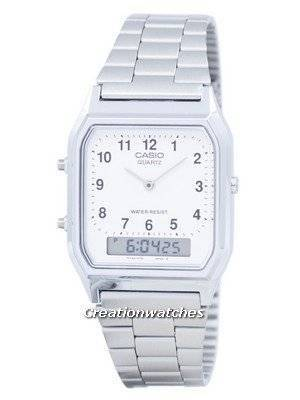 Casio Vintage Dual Time Analog Digital Quartz AQ-230A-7BMQ AQ230A-7BMQ Men's Watch