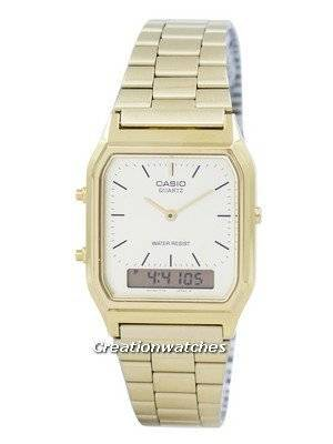 Casio Quartz Analog Digital Gold Tone AQ-230GA-9DMQYES AQ230GA-9DMQYES Men's Watch