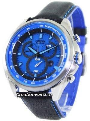 Citizen WDR Eco-Drive Chronograph Tachymeter AT2180-00L Men's Watch
