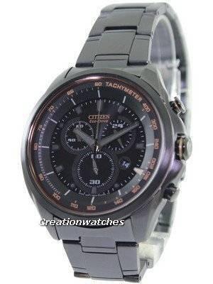 Citizen WDR Eco-Drive Chronograph Tachymeter AT2187-51E Men's Watch