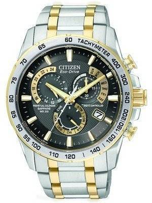 Citizen Atomic Perpetual Chronograph Eco-Drive AT4004-52E Mens Watch