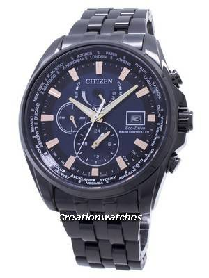 Citizen Eco-Drive Global Radio-Controlled AT9039-51L Japan Made 200M Men\'s Watch