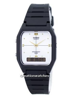 Casio Quartz Dual Time Alarm Analog Digital AW-48HE-7AV AW48HE-7AV Men's Watch