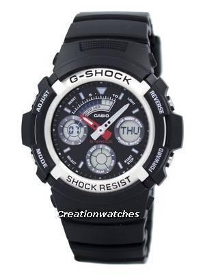 Casio G-shock Analog Digital World Time AW-590-1ADR AW590-1ADR Men's Watch