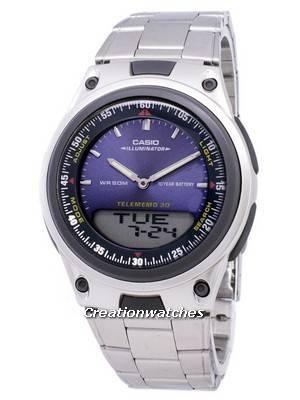 Casio Analog Digital Telememo Illuminator AW-80D-2AVDF AW80D-2AVDF Men's Watch