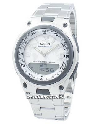 Casio World Time Analog Digital AW-80D-7A2V AW80D-7A2V Men's Watch