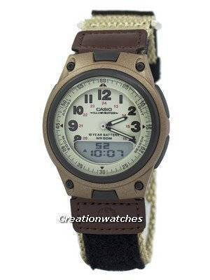 Casio Analog Digital Telememo Illuminator AW-80V-5BVDF AW-80V-5BV Men's Watch