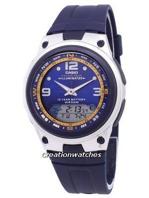 Casio Analog Digital Out Gear Fishing Illuminator AW-82-2AVDF AW-82-2AV Men's Watch