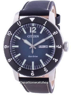 Citizen Blue Dial Calf Leather Eco-Drive AW0077-19L 100M Men\'s Watch
