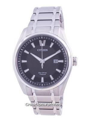 Citizen Super Titanium Black Dial Eco Drive AW1240-57E 100M Men\'s Watch