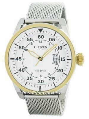 Citizen Aviator Eco-Drive Mesh Band AW1364-54A Men\'s Watch