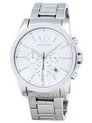 Relógio Armani Exchange Chronograph Silver-Tone Dial AX2058 para homem