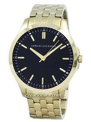 Armani Exchange Quartz Black Dial Gold Tone Stainless Steel AX2145 Men's Watch