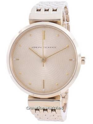 Armani Exchange Zoe Gold Tone Dial Diamond Accents Quartz AX5902 Women\'s Watch