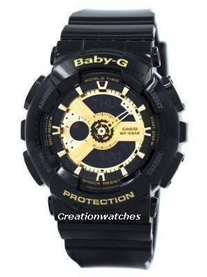 Casio Baby-G World Time Analog Digital BA-110-1A BA110-1A Women's Watch