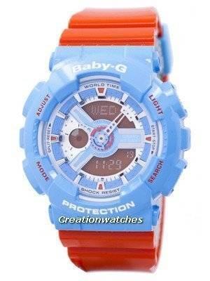 Casio Baby-G World Time Shock Resistant Analog Digital BA-110NC-2A BA110NC-2A Women's Watch