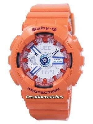Casio Baby-G World Time Shock Resistant Analog Digital BA-110SN-4A BA110SN-4A Women's Watch