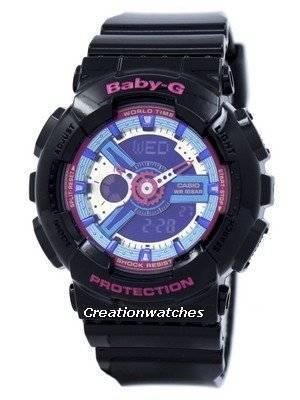 Casio Baby-G World Time Analog Digital Multicolor Dial BA-112-1A BA112-1A Women's Watch