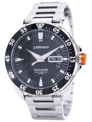 J.Springs by Seiko Automatic Black Dial 100M BEB063 Men's Watch