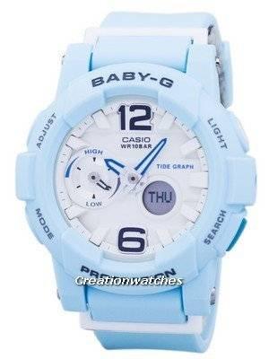 Casio Baby-G Shock Resistant Tide Graph Analog Digital BGA-180BE-2B BGA180BE-2B Women\'s Watch