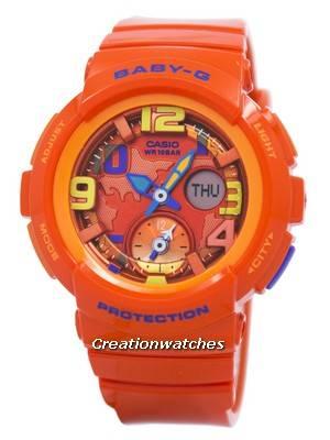 Casio Baby-G Dual Dial BGA-190-4B BGA190-4B Women's Watch