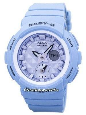 Casio Baby-G Shock Resistant World Time Analog Digital BGA-190BE-2A BGA190BE-2A Women\'s Watch