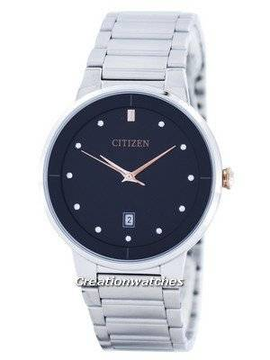 Citizen Quartz Diamond Accent Black Dial BI5014-58E Men's Watch