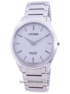 Citizen White Dial Titanium Bracelet Eco-Drive BJ6520-82A Men\'s Watch