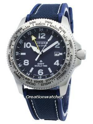 Citizen Promaster BJ7100-15L World Time Eco-Drive 200M Men's Watch