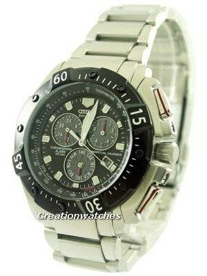 Citizen Eco Drive Perpetual Calendar Alarm Chronograph BL5314-52E Mens Watch