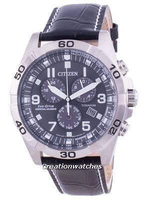 Citizen Brycen Super Titanium Perpetual Calendar Eco-Drive BL5551-14H 100M Men\'s Watch