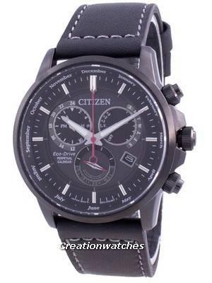 Relógio masculino Citizen Perpetual Chronograph Eco-Drive BL8155-15E 100M