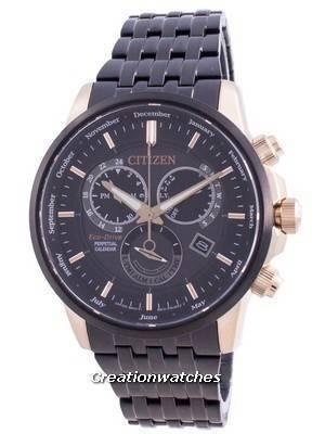 Relógio masculino Citizen Perpetual Chronograph Eco-Drive BL8156-80E 100M