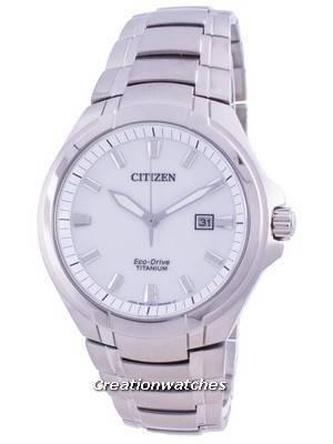 Citizen Super Titanium Silver Dial Eco-Drive BM7430-89A 100M Men\'s Watch