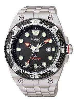 Citizen EcoDrive Promaster Carbon Titanium 300m Watch BN0065-50E
