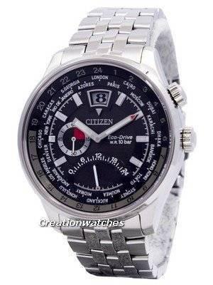 Citizen Retrograde Dual Time Eco-Drive World Time BR0010-56E