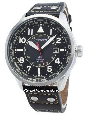 Relógio Citizen Promaster Nighthawk BX1010-02E para World Time Eco-Drive 200M