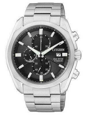 Citizen Eco-Drive Chronograph Titanium CA0021-53E/CA0020-56E Men's Watch