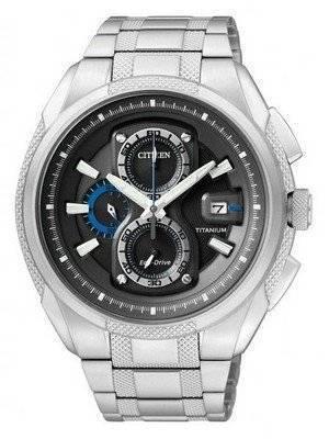 Citizen Eco-Drive Chronograph Super Titanium CA0201-51E Mens Watch