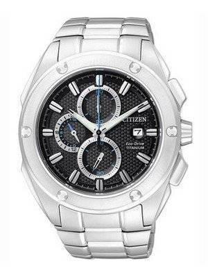 Citizen Eco-Drive Chronograph Super Titanium CA0210-51E Mens Watch