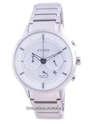 Citizen Super Titanium White Dial Eco Drive CA4400-88A 100M Men\'s Watch