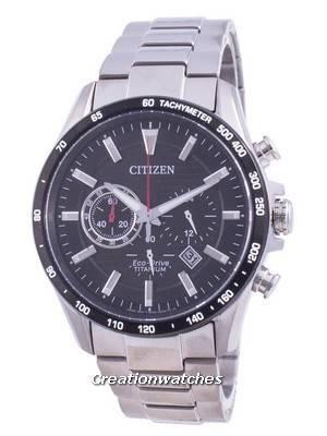 Citizen Eco-Drive Super Titanium Tachymeter CA4444-82E 100M Men\'s Watch