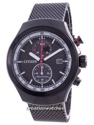 Citizen Black Dial Chronograph Eco-Drive CA7015-82E 100M Men\'s Watch