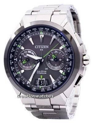 Citizen Eco-Drive Attesa Titanium Satellite Wave Air GPS 100M CC1086-50E Men's Watch