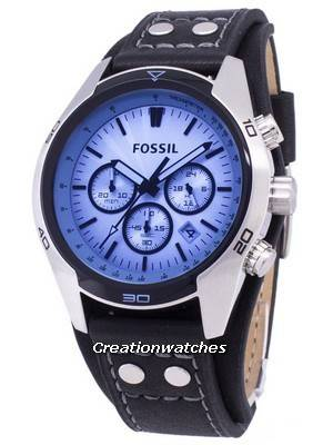 Fossil Coachman Chronograph Black Leather CH2564 Men's Watch