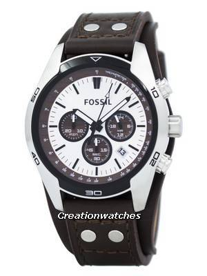 Fossil Cuff Chronograph Tan Leather CH2565 Men's Watch
