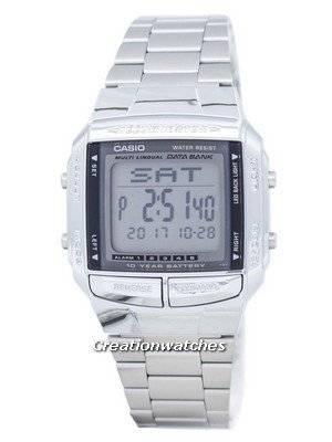 Casio Data Bank Iluminador Dual Time Digital de Alarme DB-360-1A DB360-1A Men Watch