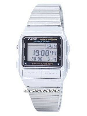 Casio Digital 5 Alarm Multi-Lingual Data Bank DB-380-1DF DB380-1DF Men\'s Watch