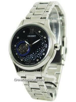 Orient Happy Stream Collection Blue Moon Open Heart DB0A007B Women's Watch